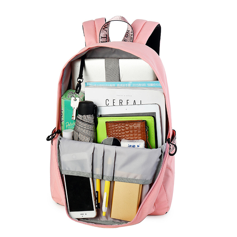 Fashion Luminous Waterproof Women Daily Backpacks College Student Bookbags Reflective Bagpack For Girls School Knapsack #6