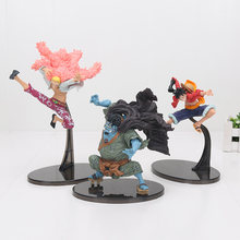 One Piece Figure Luffy Jinbe Doflamingo DXF SCultures BIG VI PVC Action Figure Anime Toy Collection Model Gift(China)