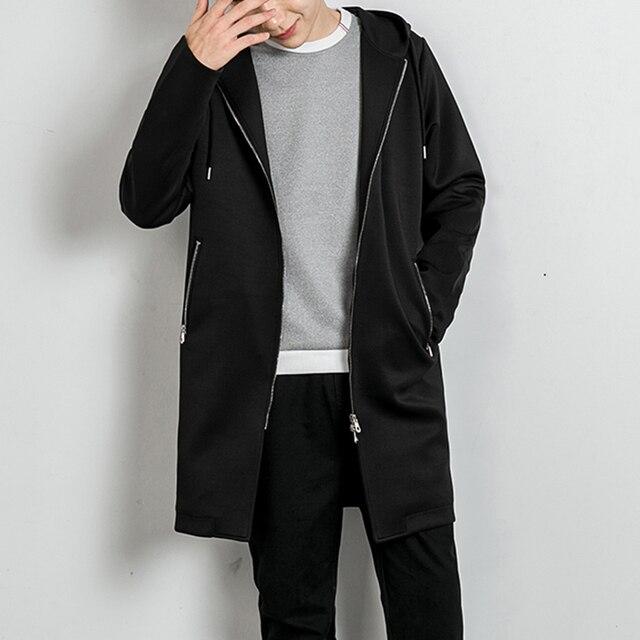 2017 Nova primavera outono homens casaco com capuz jaqueta corta-vento dos homens coreano moda hip hop casuais casaco solto W128