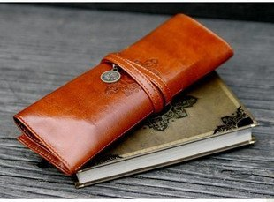 F30-149 Wholesa Free Shipping/PU Leather Tether Pencil Case/pencil Bag/pen Pocket/Cosmetic Bag/coin bag/Pouch/super Gift/