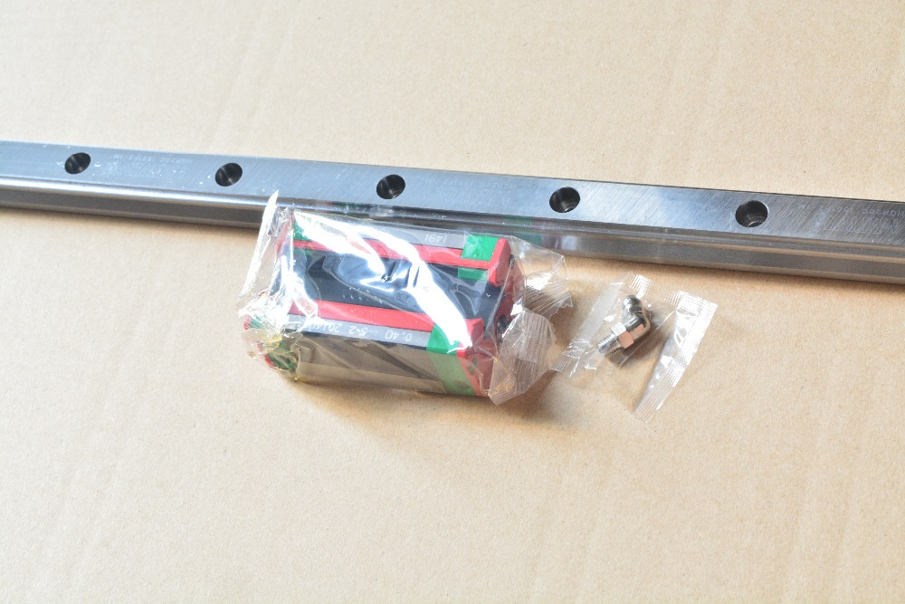 HIWIN HG linear guide series HGR15 15mm length 1000mm linear motion slide rail with HGH15CA carriage block for cnc xyz axis 1pcs