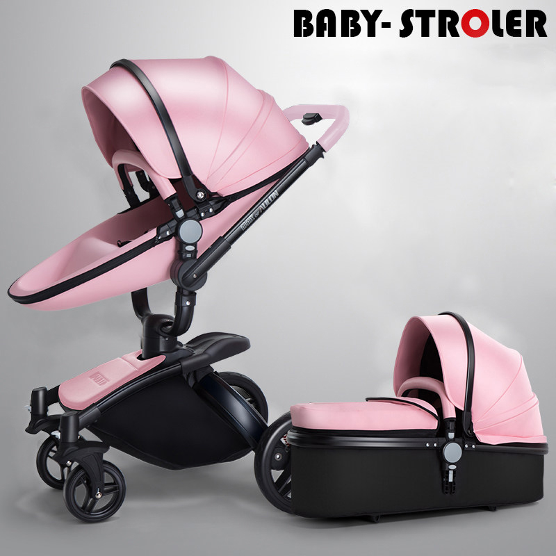 Aulon recounts baby stroller leather two way shock absorbers baby car cart trolley