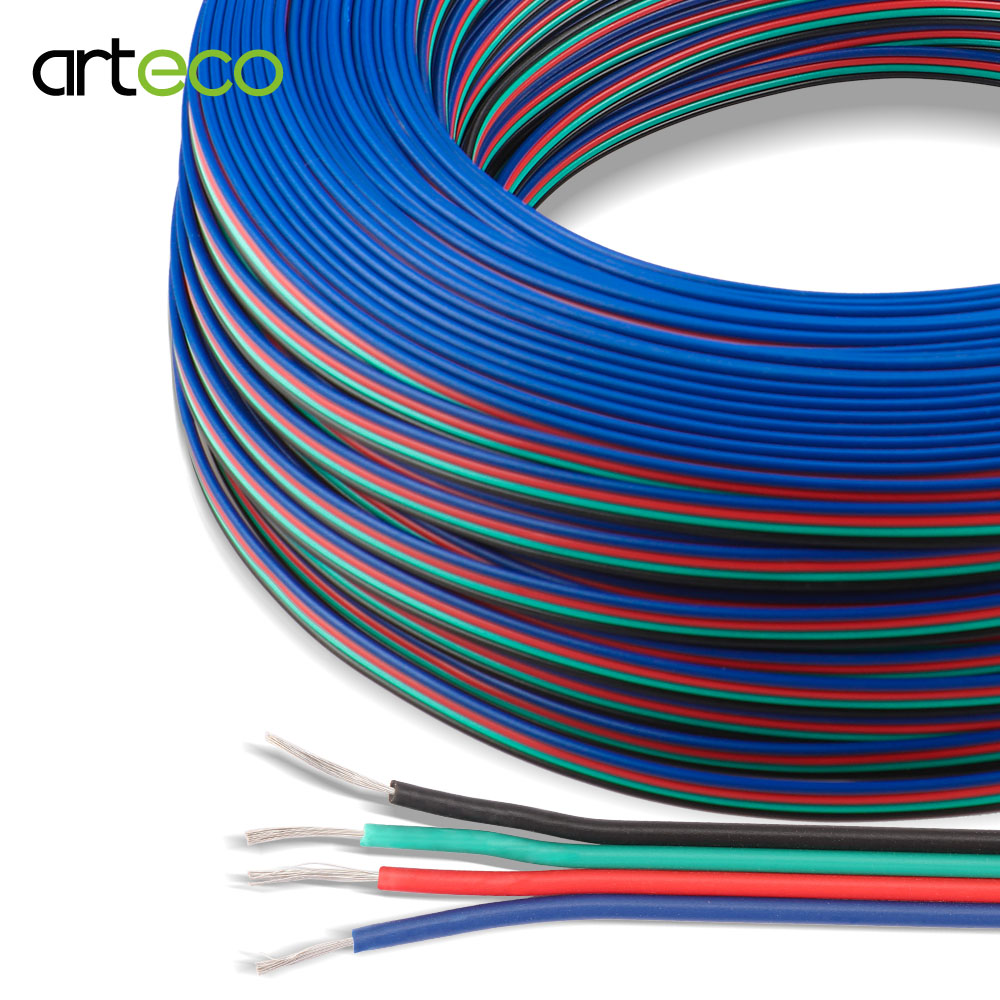 2PIN <font><b>3PIN</b></font> <font><b>4PIN</b></font> 5PIN Wire LED Connect Wire Extension <font><b>Cable</b></font> For Single color RGBW <font><b>RGB</b></font> LED Strip 5050 WS2812 Strip 1M / 5M / 10M image