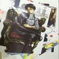 8 шт./компл. 40*30 см Нападение На Titan Наклейки Плакат Mikasa Акерман Эрен Jaeger Картины Плакат Стены Дети игрушки для летию со дня рождения Подарок