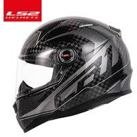 New Arriving original LS2 FF396 CT2 12K carbon fiber motorcycle helmet full face LS2 helmets casco casque moto no airbags pump