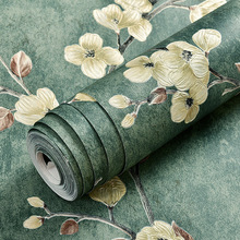 Retro American country wallpaper non-woven 3D three-dimensional garden bedroom living room AB version TV background wallpaper wallpaper eco friendly non woven 3d three dimensional sculpture fashion wallpaper tv background wall wallpaper