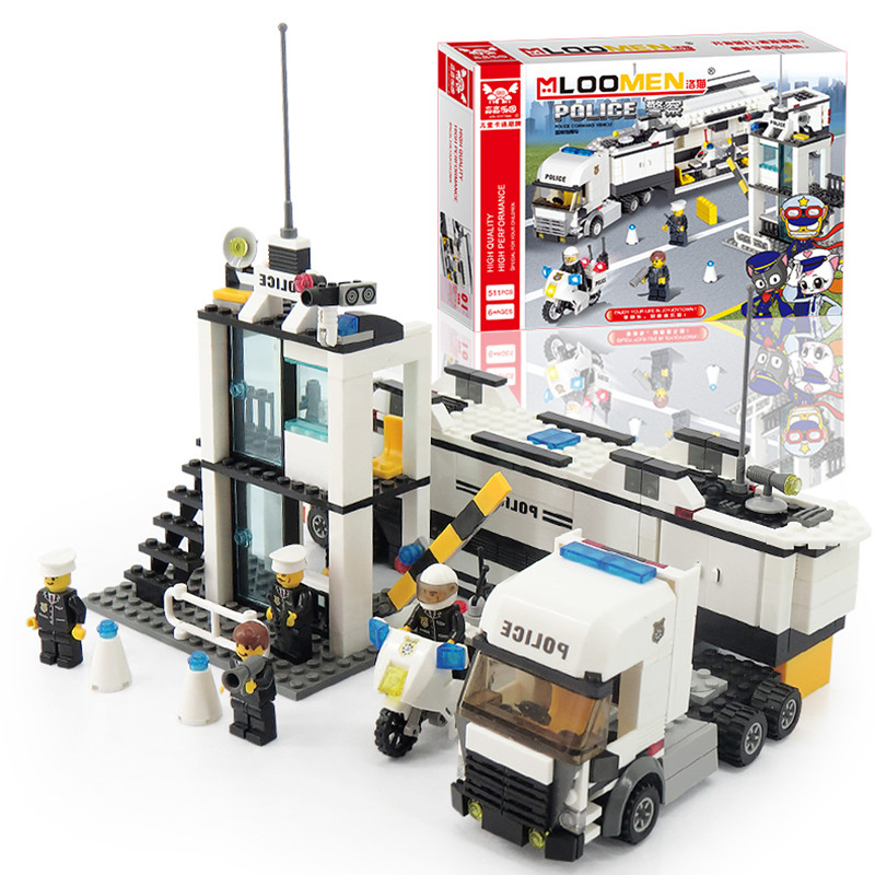 New 511pcs/set Building Blocks bus Police Station truck City Motorcycle Kids Children Toys Christmas Gifts for Kids