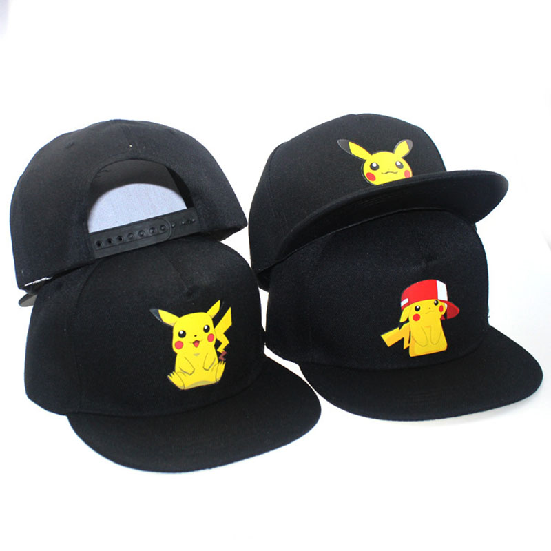 2018 New Cartoon Anime Pokemon Pikachu Logo Printing   Baseball     Caps   Hip-Hop   Cap   For Men Women Unisex Summer Sun Hats Adjustable