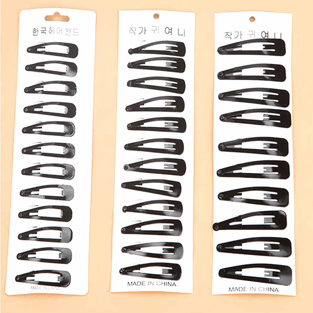 Paint hair styling clip fashion nostalgic Korean bangs black BB clip water drop clip hair styling accessories DIY hair clip
