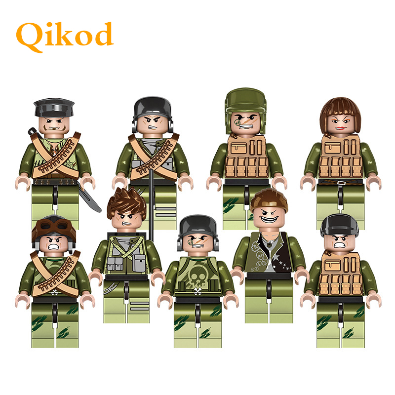Have An Inquiring Mind 9pcs Star Wars Military Falcon Commandos Wwii Army Soldiers Marine Corps Kids Bricks Building Blocks Compatible Legoing Toys Quell Summer Thirst Model Building