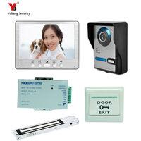 Yobang אבטחה Freeship 7 ''טלפון דלת וידאו קווית צג מקורה IR חיצוני עמיד למים מצלמת וידאו מערכת אינטרקום פעמון