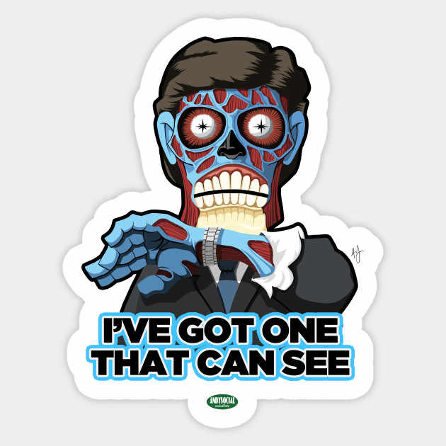 1PCS They Live Alien Sticker PVC Car Sticker For skateboard suitcase refrigerator motorcycle motorcycle  Buy one get ten