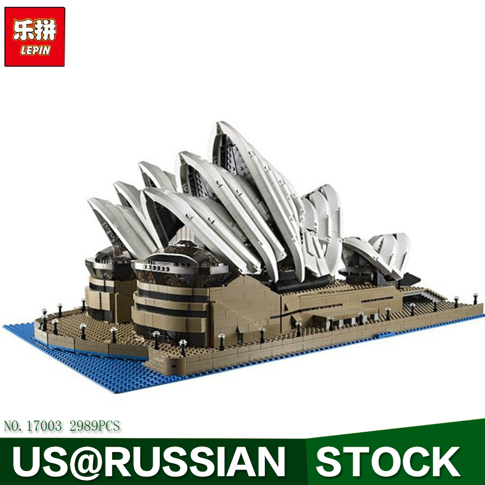 Lepin 17003 Creator Sydney Opera House Model Building Blocks Toys Kids Gift educational for Children simply red farewell live in concert at sydney opera house