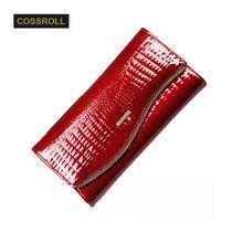 2017 бумажник Для женщин клатч качество кожи модные длинные Бумажники дизайнер бренда HASP кошелек сотовый телефон ID Card Holder женские красные Сумка