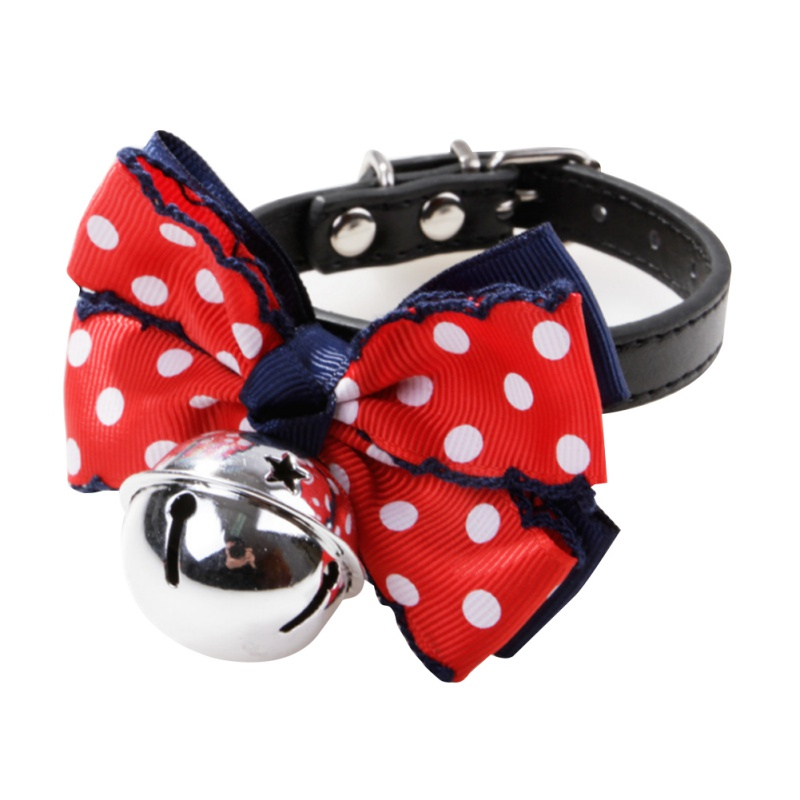 Cute Dog Tie Collar Big Bow-knot Silver Bells Cat Collar Adjustable Puppy Quality Fashion Pet Supplies Hot Sales Beauty Products
