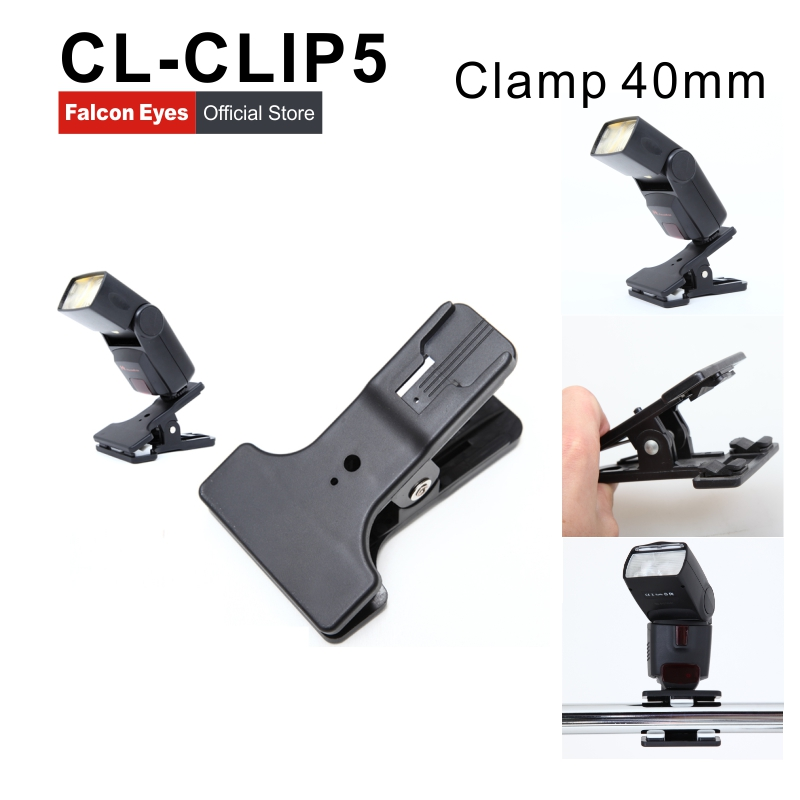 40mm  Photography Multi-function Clip Clamp Holder Mount for Camera Flash Bracket Photo Studio Accessories