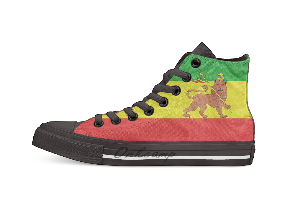 Lion Of Judah  Casual High Top Canvas Shoes Sneakers For Drop Shipping