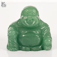 2 Inch Carved Budda Natural Green Aventurine Maitreya Happy Laughing Buddha Figurine Crystal Stone Home Decor