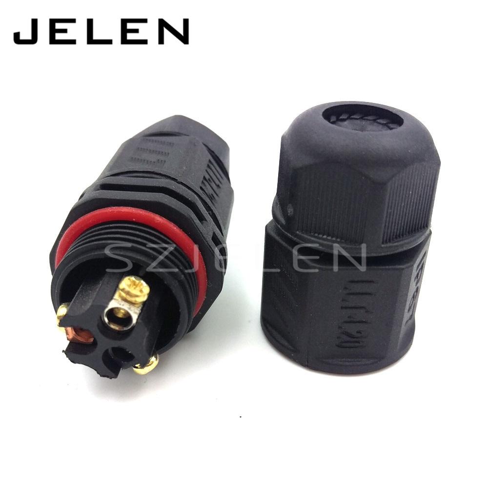Llt L20 Waterproof 3 Pin Connector Industrial Power