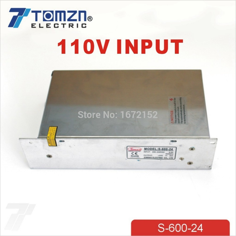 600W 24V 110V input Single Output Switching power supply for LED Strip light AC to DC