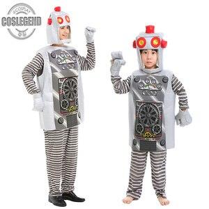 Детский и взрослый костюм для косплея роботов, детский и мужской или женский костюм для Хэллоуина