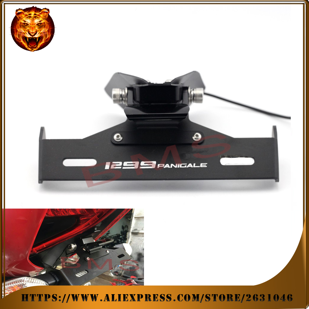 Motorcycle Tail Tidy Fender Eliminator Registration License Plate Holder bracket LED Light For DUCATI 1299 Panigale S/R 2015 16 maluokasa motorcycle fender eliminator tail tidy for suzuki hayabusa gsx1300r 2008 2009 motor license plate tail light bracket