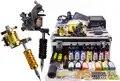 Tattoo Machine Kit Tattoo Voeding 14 Kleuren Inkt Grip Nozzle Naald Set voor Beginner met Draagtas