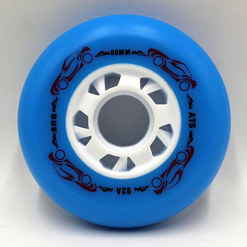 Prix pour 8 roues! grand escompte! livraison gratuite! haute élastique à l'abrasion de patinage roues, de patinage roue/72mm76mm80mm84a
