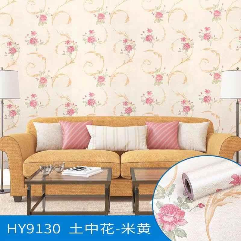 Европейский цветочный настенный бумажный цветок для стен 3d текстурированный настил 3D Гостиная Спальня украшение дома рулон