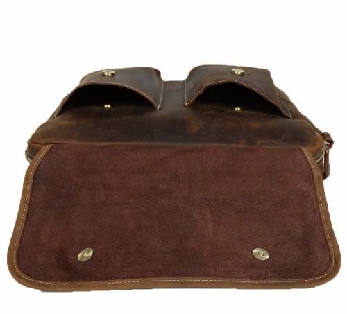 Herrenmode Designer handtaschen Hoher Qualität Leder Braun Leder Aktentasche Portfolio Männer 15,6 laptop Büro Messenger Taschen - 6