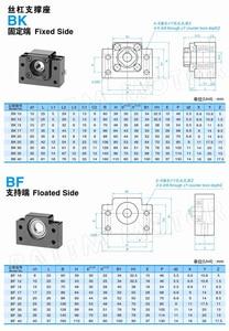 Image 5 - Ru Schip 3 Sets Lineaire Rails SBR16 L 300/700/1100 Mm & Ballscrew Sfu/RM1605 350/750/1150 Mm & Moer & Bk/B12 & Koppeling Voor Cnc Router