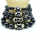 Yumten Diy Bracelet Charms New Trendy Braceletes For Women Men Agate Dzi Natural Black Oobsidian Bracelet 925 Sterling Diy 2017