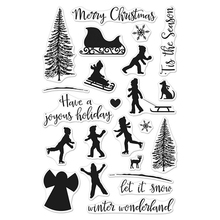 winter silhouettes Transparent Clear Silicone Stamp/Seal for DIY scrapbooking/photo album Decorative clear stamp