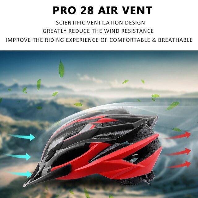 Phmax capacete ultraleve para ciclistas, 2020, capacete de ciclismo com cobetura eps + pc para bicicletas de montanha, mtb e estrada, moldado integralmente tampa segura 4