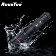 CREE Q5 Black Led Flashlight 800Lumens Led Torch 3 Modes Zoomable Wate