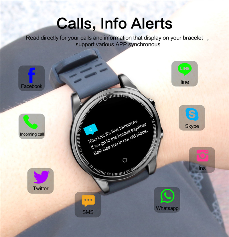 Smart watch fitness waterproof for Android IOS Calls