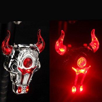 West biking светодиодный велосипедный фонарь Bull велосипед USB Перезаряжаемый задний Лазерный фонарь Предупреждение задний фонарь велосипеда >> Cyclespeed Store