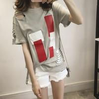 4xl Plus Big Size Tops Blusas Feminina Spring Summer Style 2016 Korean Fashion Women T Shirt