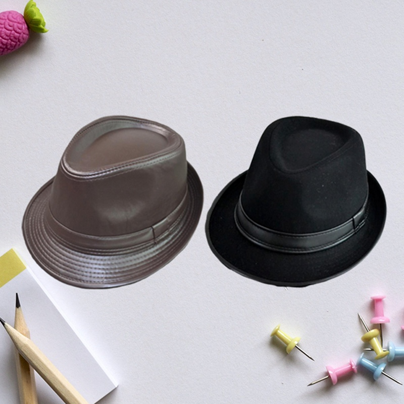 New Design Panama Brief Mens Leather Hats Cap Flat Top Gentleman Jazz Caps Casquette Party Hat Church Hats