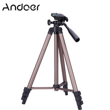 Andoer WT3130 Protable Camera Tripod Stand with Rocker Arm for Canon Nikon Sony DSLR Camera Camcorder tripod stand Load 2.5kg(China)