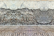 Laeacco Bare Old Stone Wall Floor Vintage Portrait Photography Backgrounds Customized Photographic Backdrops For Photo Studio