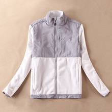 Burrima New Women Outerwear Fleece Jackets Embroidery Overcoat Black/White women basic coats