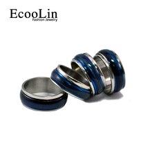 Ecoolin горячий!! опалы винтажном эмаль рок стиле панк нержавеющей моды синий