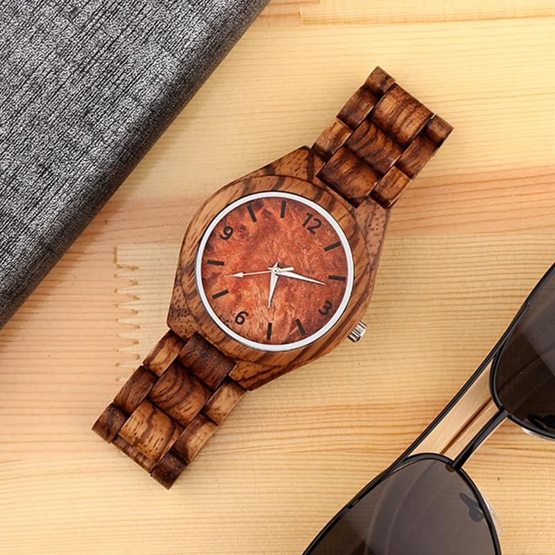 Hot Sale Popular Fashion Wood Watch Full Wooden Mens Watch Men Watch Unique Wood Watches Clock saat reloj hombre relogio montre