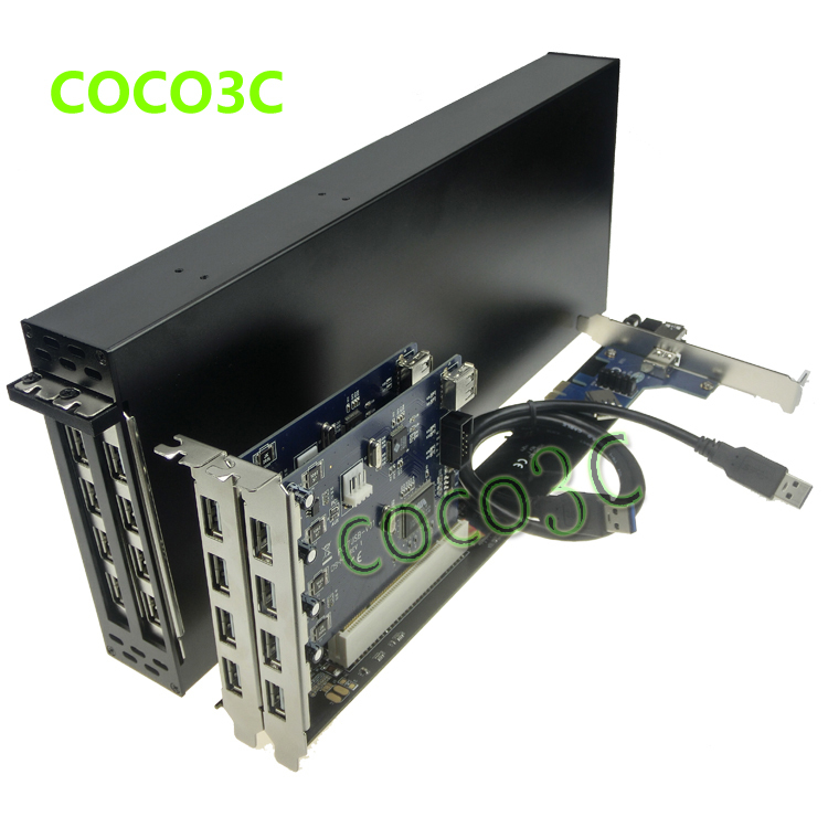 King-size PCI-e x1 To 2 PCI 32bit slots adapter support PCI express x1 x4 x8 x16 Riser Card for PCI Sound Network graphics card аксессуар espada pci e x1 f to pci e x1 m 18cm epciem pcief18r