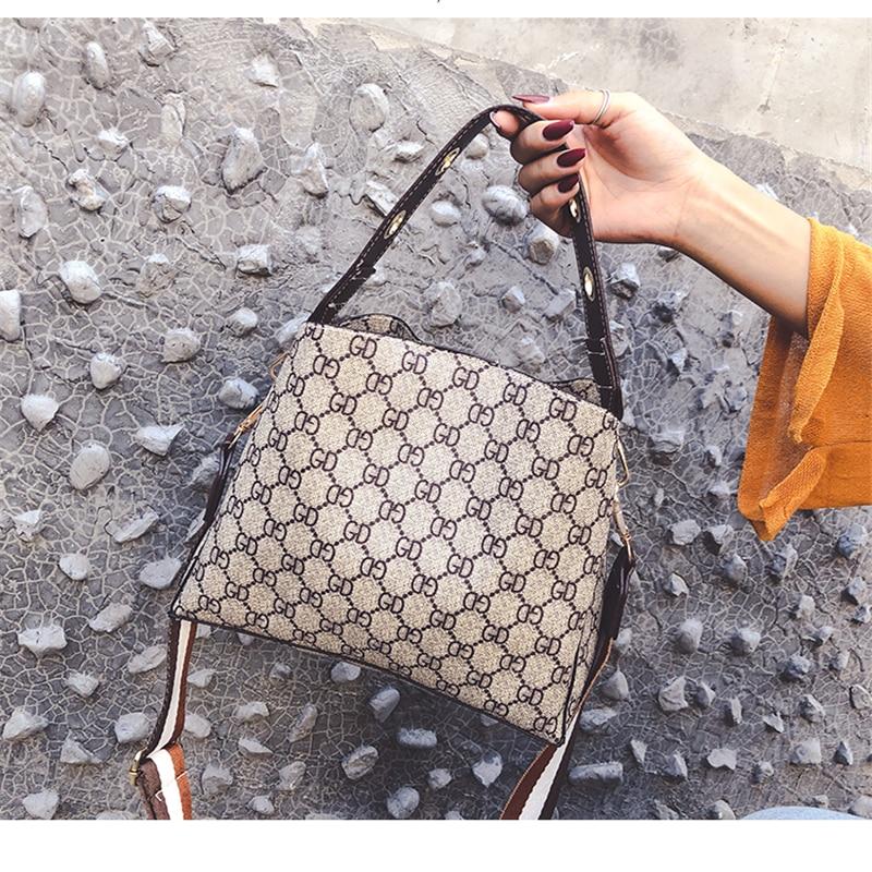 Vintage Letter Bags For Women Crossbody Bucket Bag Luxury Handbags Women Shoulder Bags Ladies Shoulder Bag 2019 Famous Brands