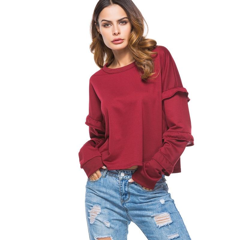 2018 o-cou Long complet goutte épaule Streetwear vente directe licorne Moletom Feminino Kpop sweat femmes nouveau motif cou
