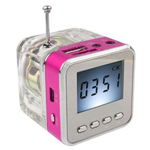Mini LED Speaker Music Player with FM Radio Receiver Support SD/TF Card USB Disk MP3 Player LCD Display Loud Subwoofer Speaker цена