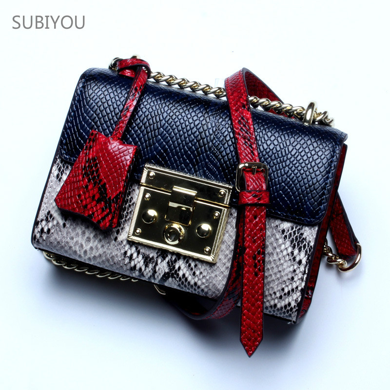 Colour Flap Pocket Single Shoulder Bag Small Luxurious Bag Famous Brand Serpentine Cover Chain Bag for Women's Real Leather Bags mini gray shaggy deer pvc quilted chain bag with cover real picture