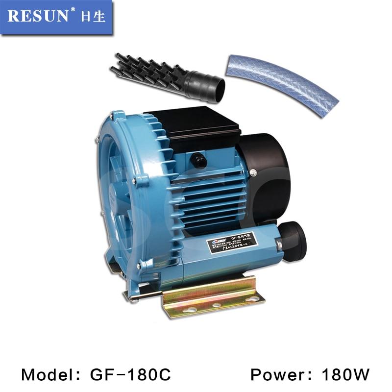 Fish & Aquatic Supplies 180w 540l/min Resun Blower High Pressure Electric Turbo Air Blower Aquarium Seafood Air Compressor Koi Pond Air Aerator Pump